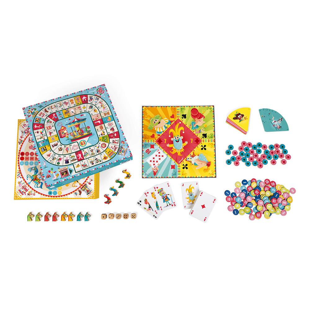 Кутия с 50 настолни състезателни игри- детски образователни играчки от Janod-bellamiestore