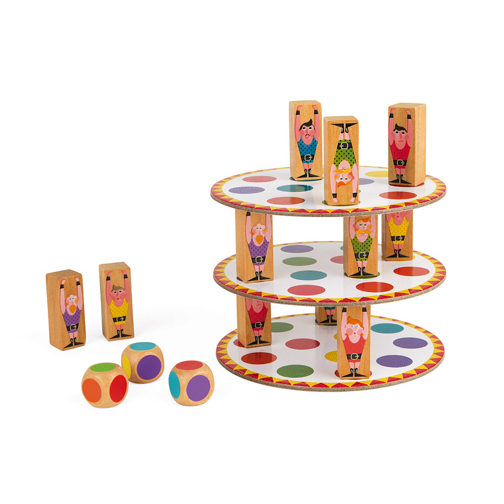 Настолна състезателна игра за сръчност - Акробат- детски играчки от Janod(2)-bellamiestore