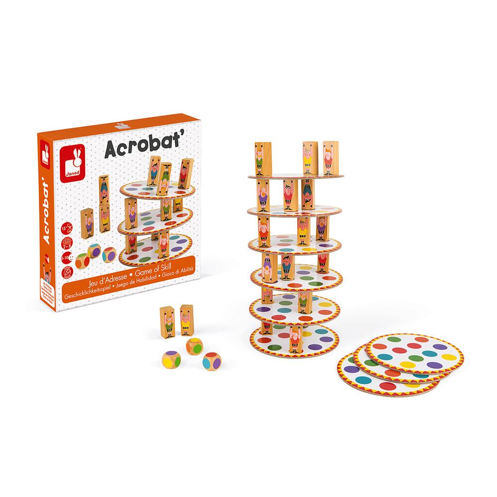 Настолна състезателна игра за сръчност - Акробат- детски играчки от Janod(4)-bellamiestore