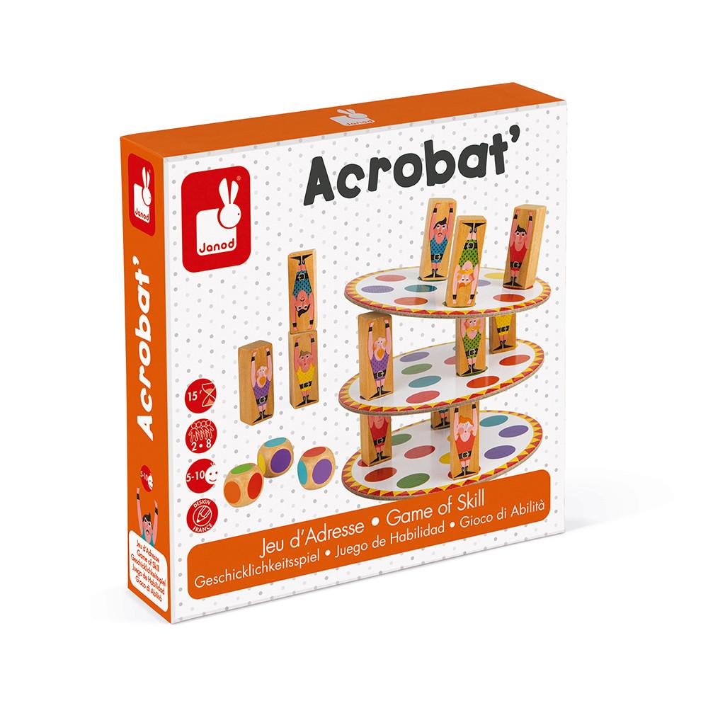 Настолна състезателна игра за сръчност - Акробат- детски играчки от Janod(5)-bellamiestore