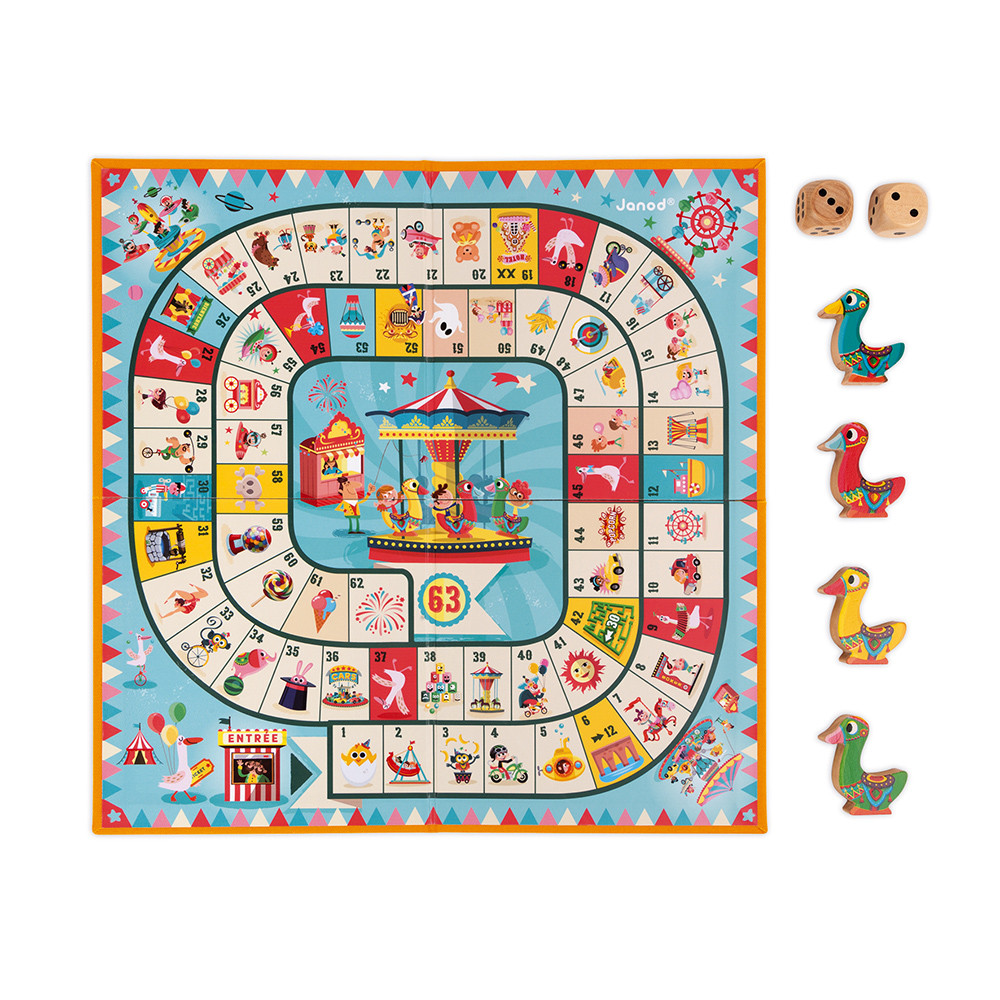 Настолна състезателна и образователна игра - Гъска - детски играчки от Janod(3)-bellamiestore