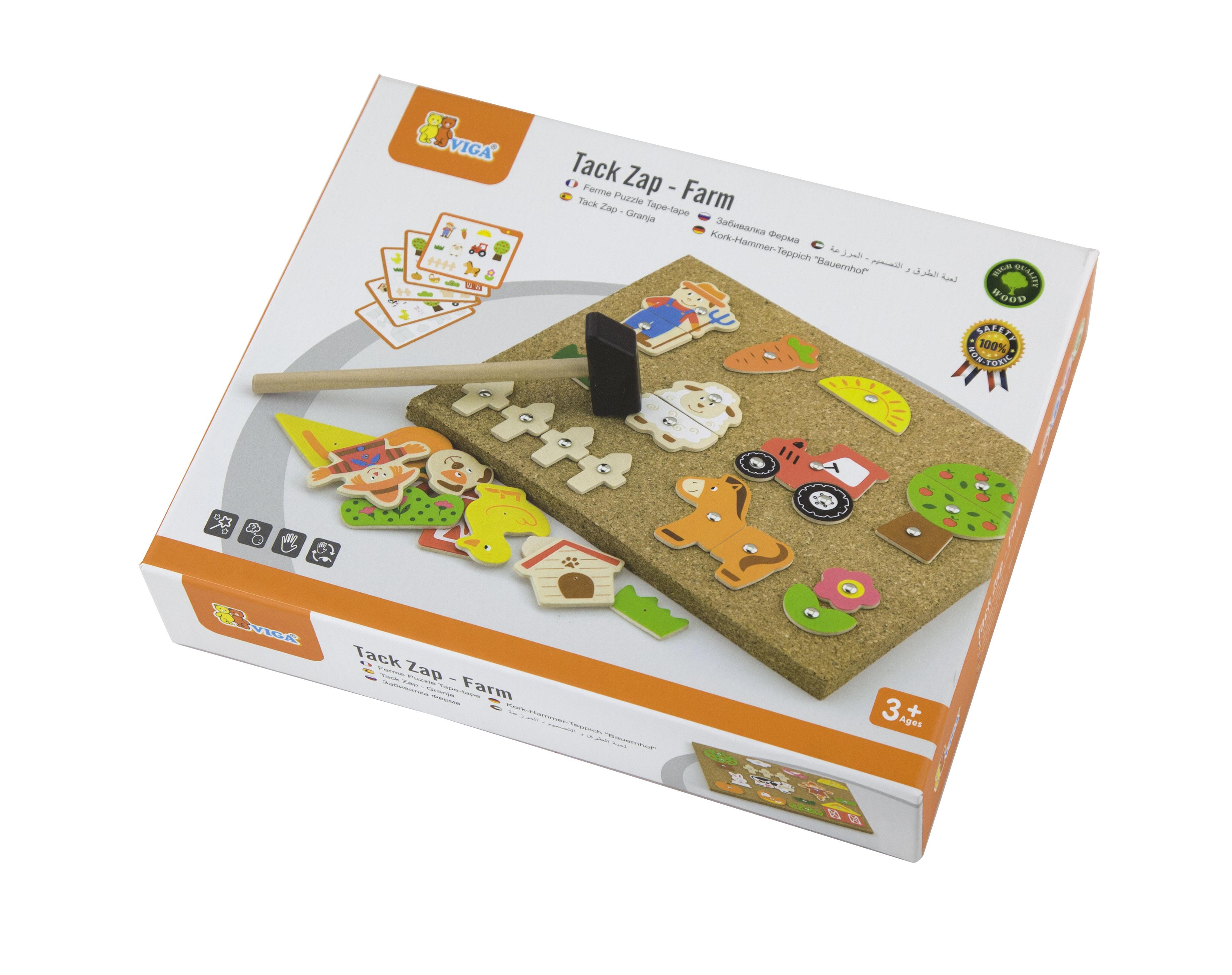 Образователна игра за сръчност - Ферма- дървена играчка от Viga toys(3)-bellamiestore