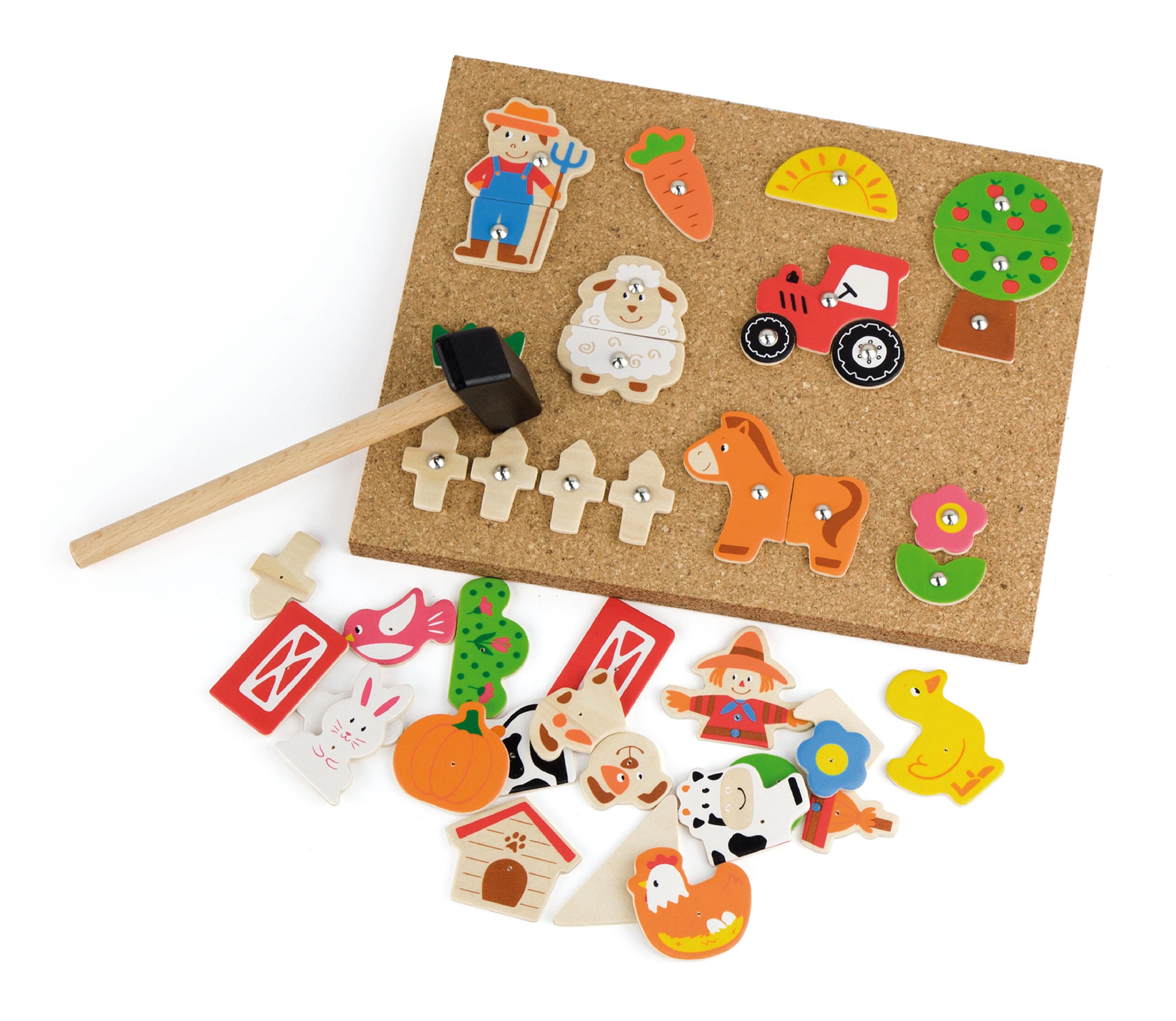 Образователна игра за сръчност - Ферма- дървена играчка от Viga toys(1)-bellamiestore