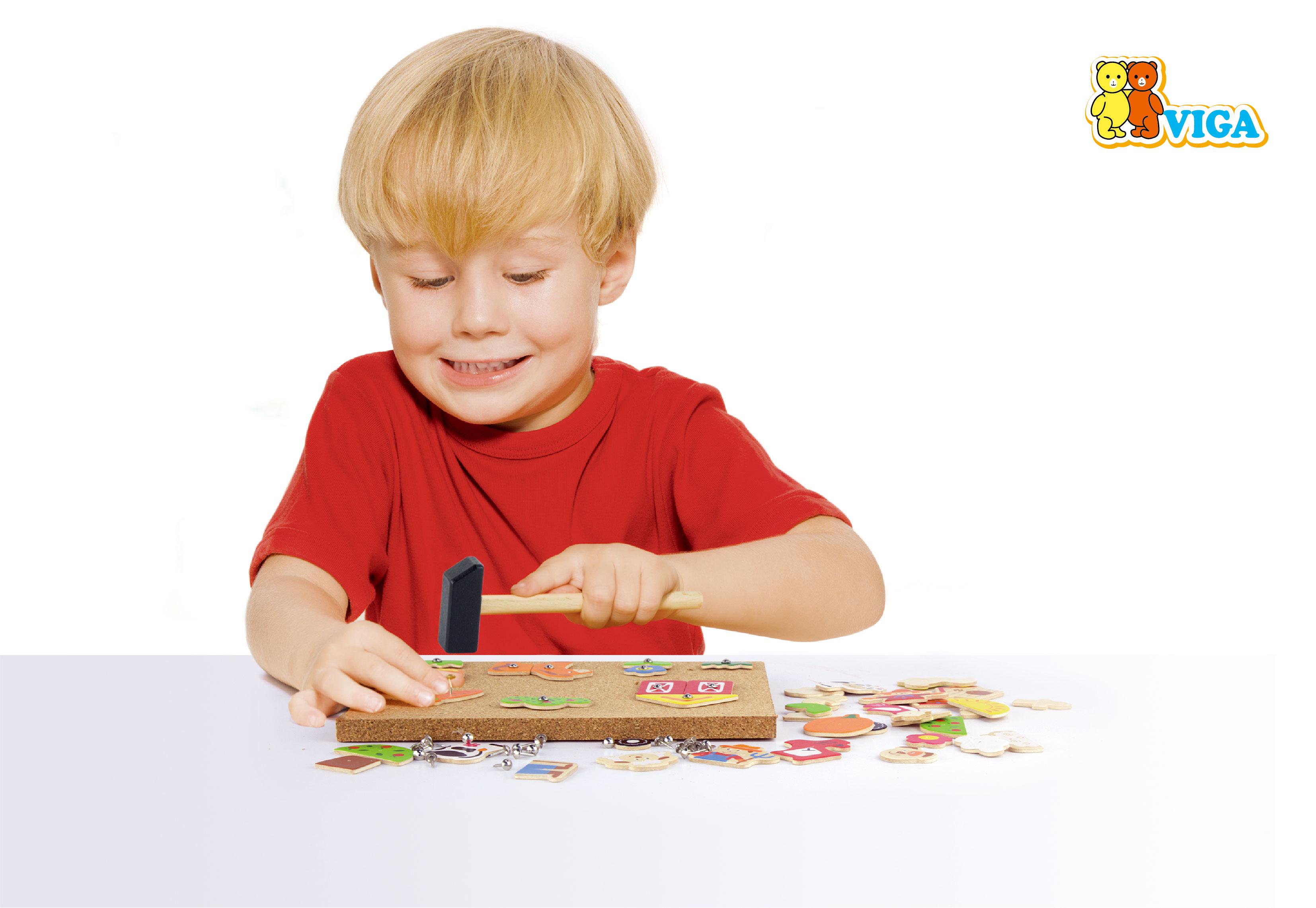 Образователна игра за сръчност - Ферма- дървена играчка от Viga toys-bellamiestore