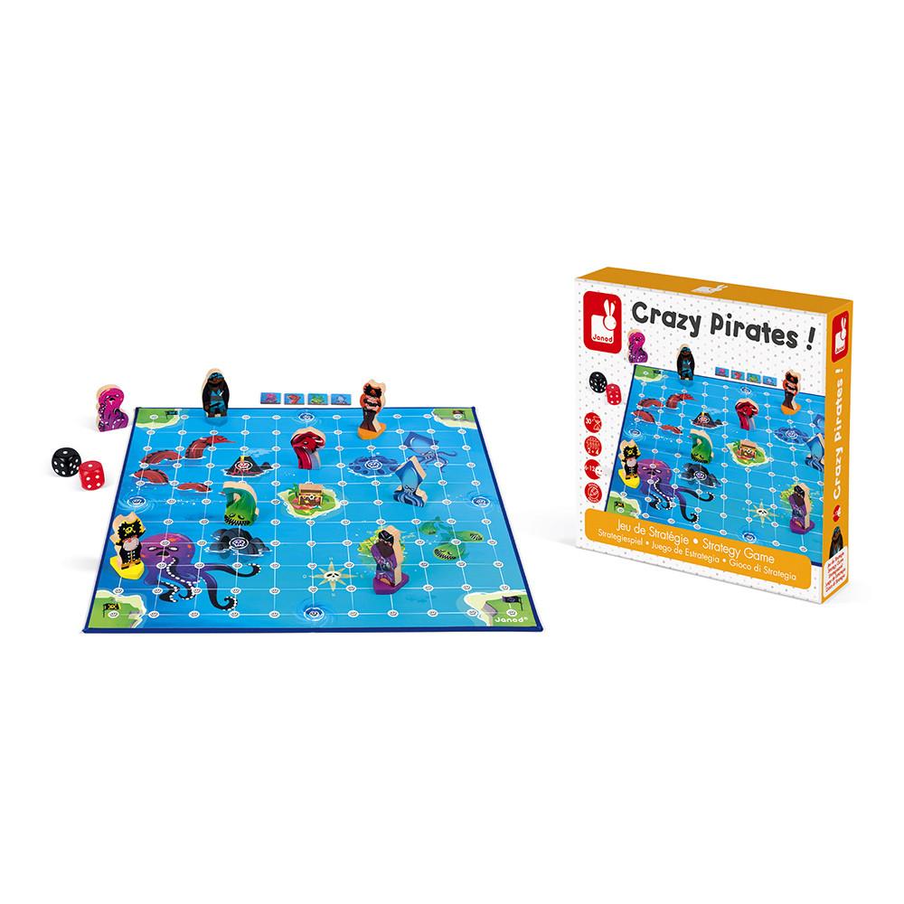 Стратегическа настолна игра - Луди Пирати - детски играчки от Janod(5)-bellamiestore
