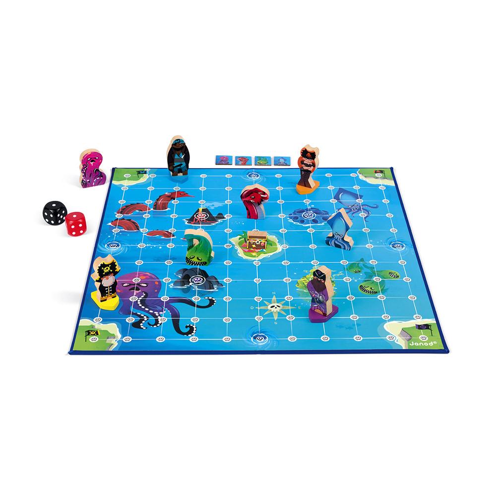 Стратегическа настолна игра - Луди Пирати - детски играчки от Janod(4)-bellamiestore