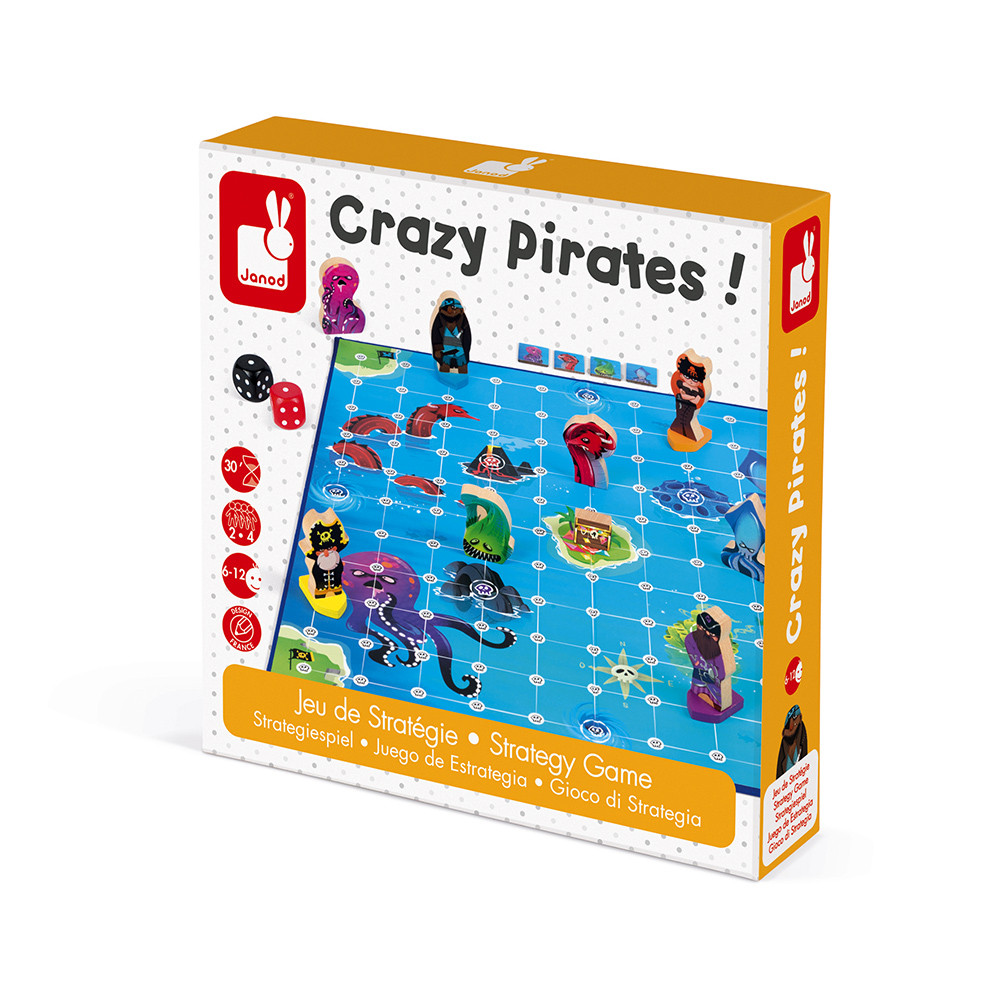 Стратегическа настолна игра - Луди Пирати - детски играчки от Janod(3)-bellamiestore