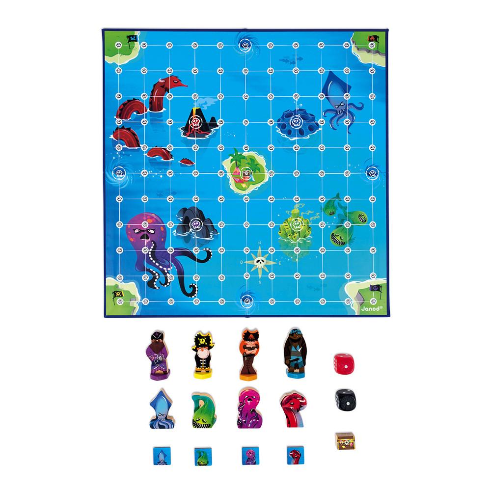 Стратегическа настолна игра - Луди Пирати - детски играчки от Janod-bellamiestore