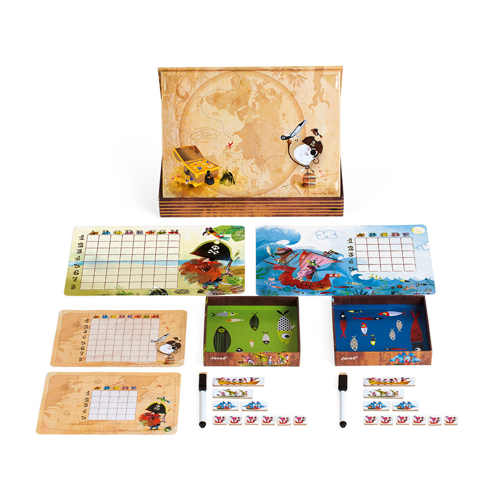 Стратегическа настолна игра - Морска битка - детски образователни играчки от Janod(2)-beellamiestore