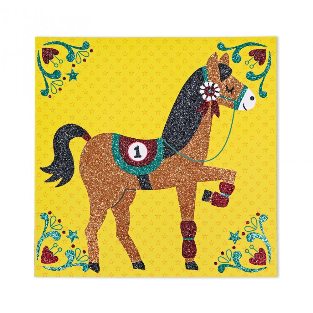 Света на конете - карти с брокат - творчески комплекти от Janod(1)-bellamiestore