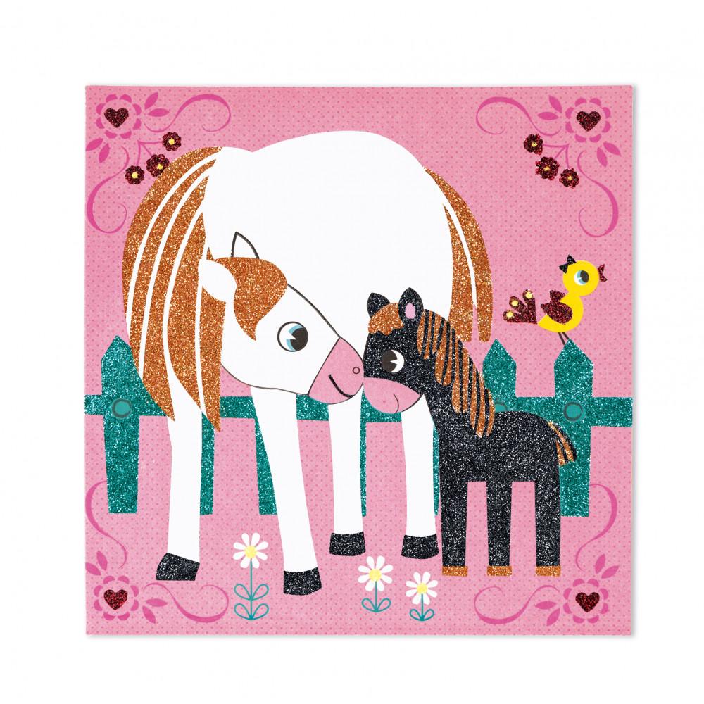 Света на конете - карти с брокат - творчески комплекти от Janod(2)-bellamiestore