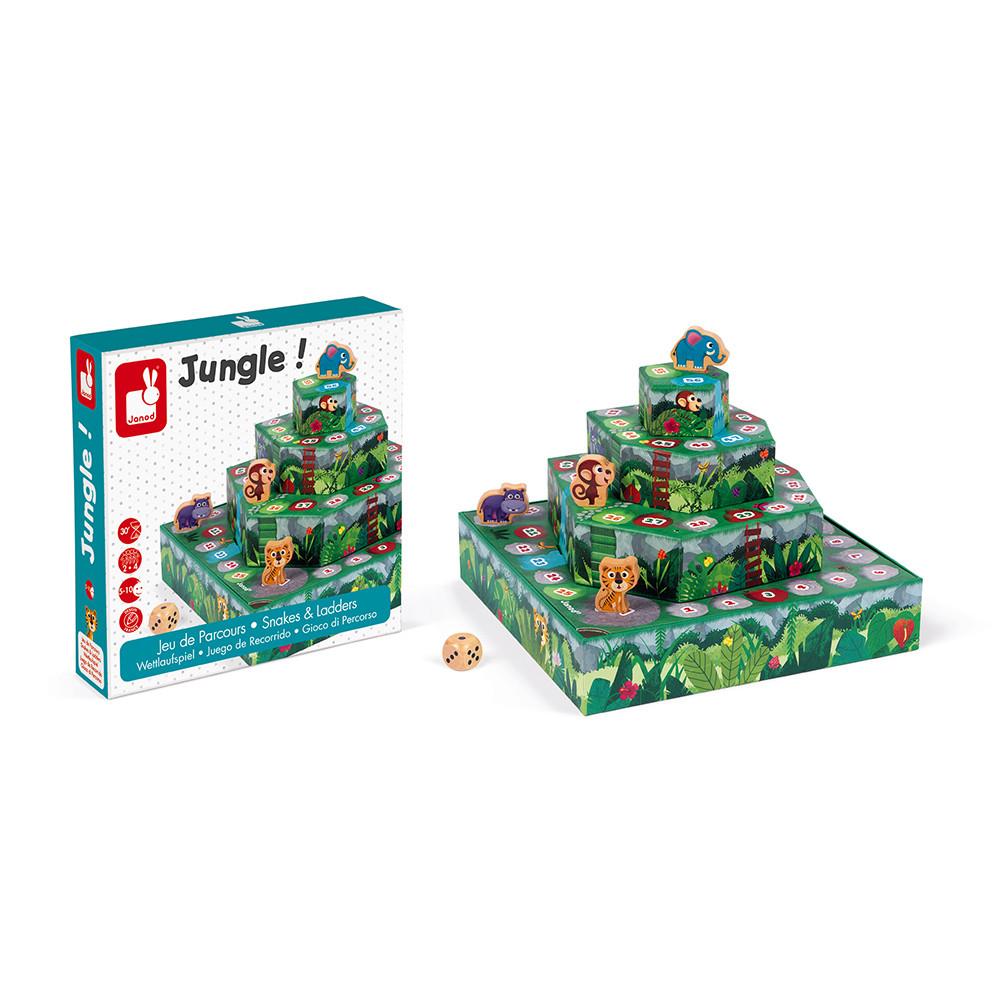Състезателна настолна игра - Джугла- детски образователни играчки от Janod(4)-bellamiestore