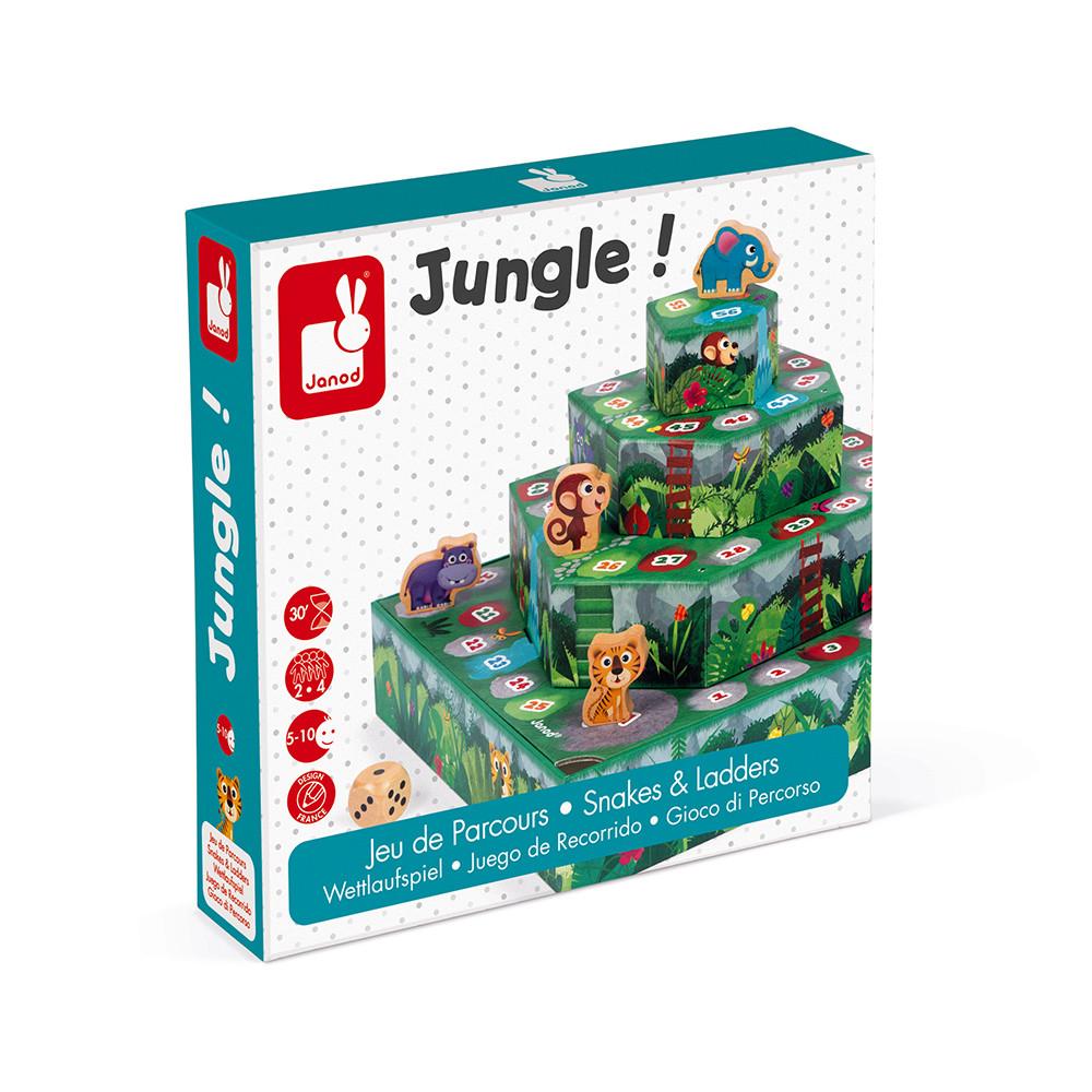 Състезателна настолна игра - Джугла- детски образователни играчки от Janod(5)-bellamiestore