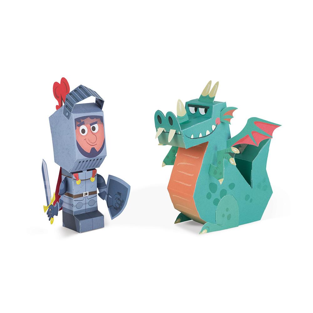 Творчески комплект - Направи си герои от хартия - детски играчки за момчета от Janod - bellamiestore