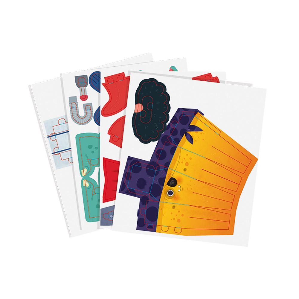 Творчески комплект - Направи си герои от хартия - детски играчки за момчета от Janod(1)-bellamiestore