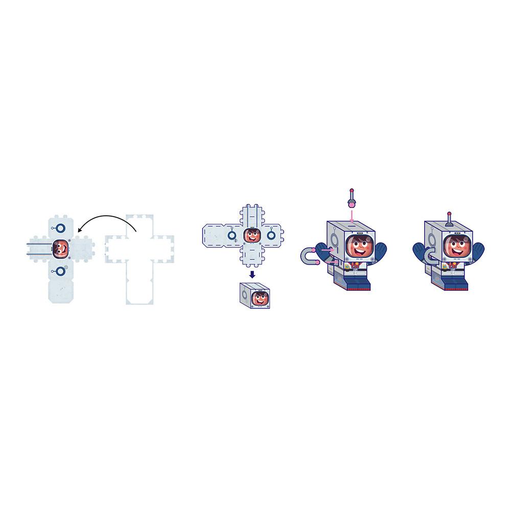 Творчески комплект - Направи си герои от хартия - детски играчки за момчета от Janod(2)-bellamiestore