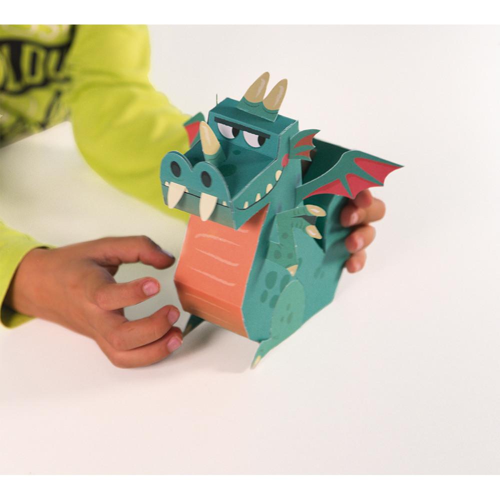 Творчески комплект - Направи си герои от хартия - детски играчки за момчета от Janod(3)-bellamiestore