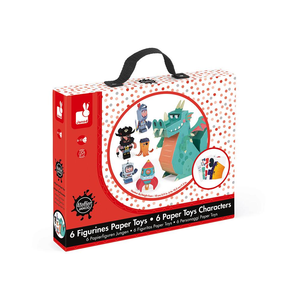 Творчески комплект - Направи си герои от хартия - детски играчки за момчета от Janod(4)-bellamiestore