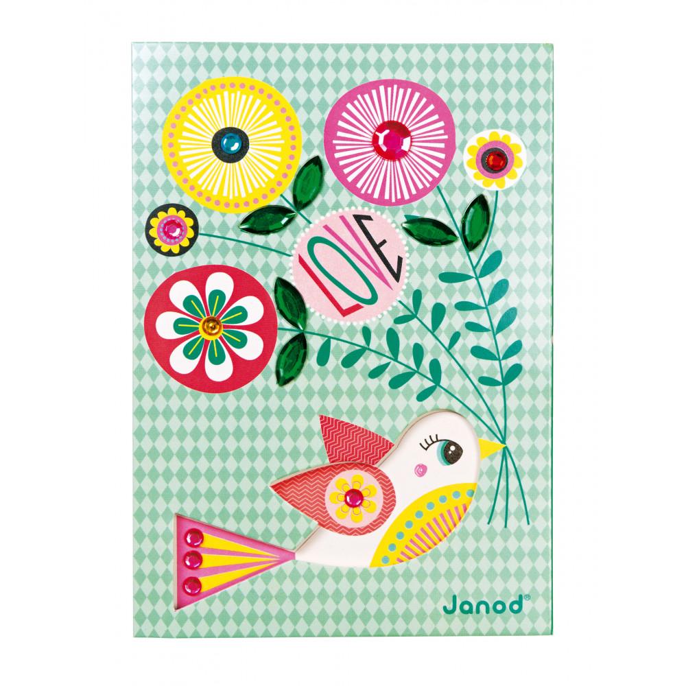 Творчески комплект за правене на картички- детски играчки от Janod(1)-bellamiestore