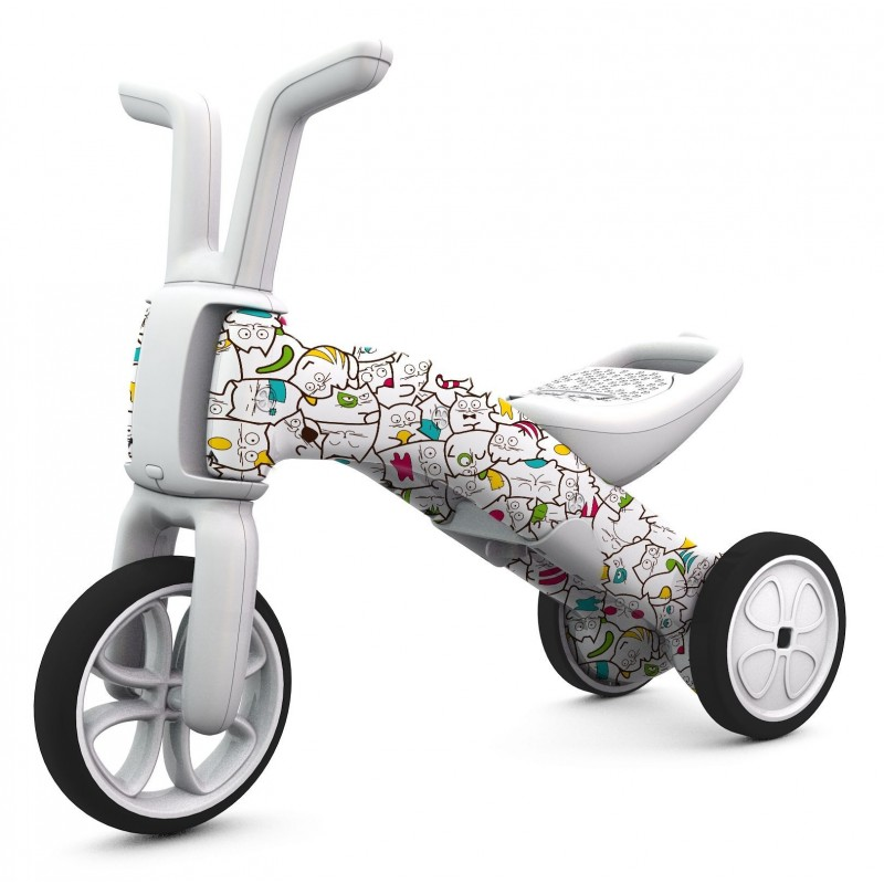 Bunzi детско колело за балансиране 2 в 1 артистик камуфлаж от Chillafish(3)-bellamiestore