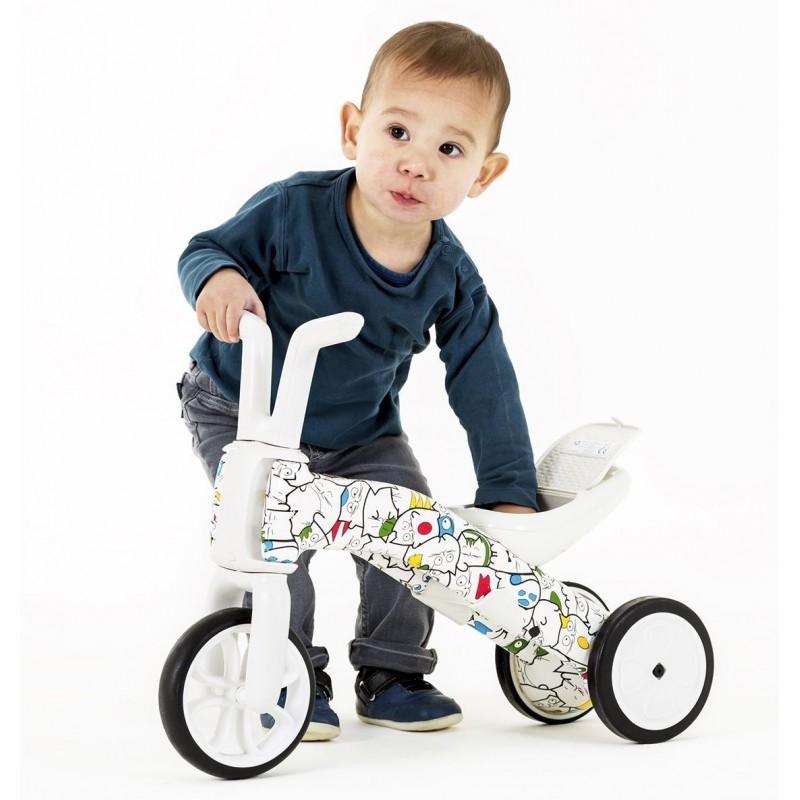 Bunzi детско колело за балансиране 2 в 1 артистик камуфлаж от Chillafish(2)-bellamiestore