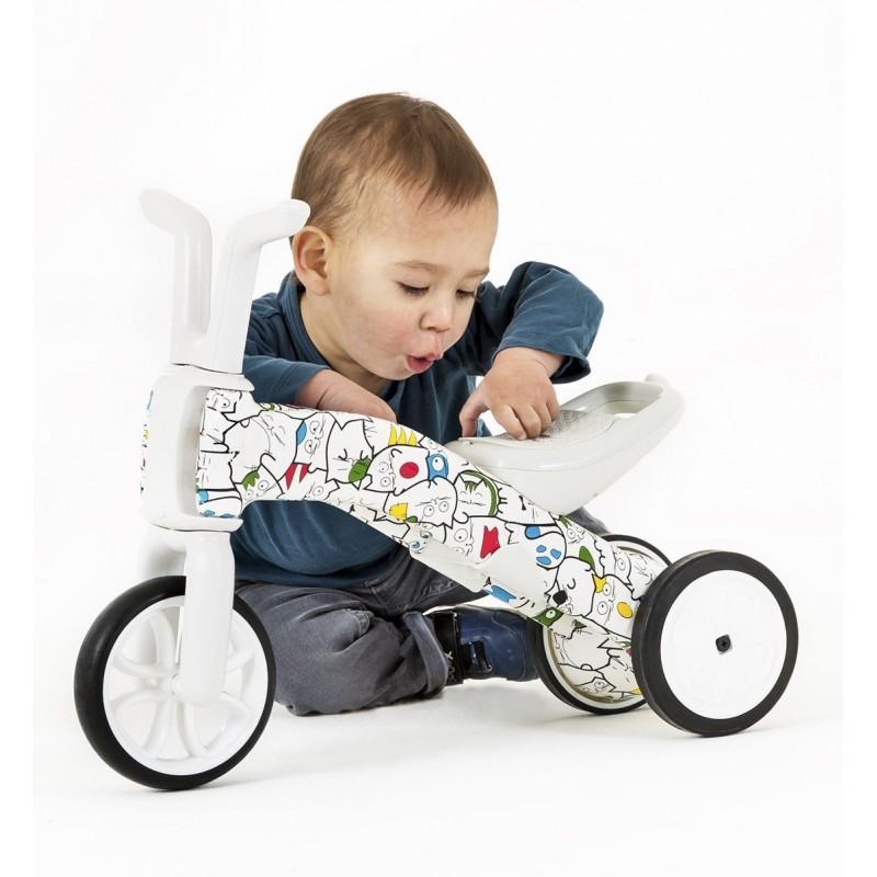 Bunzi детско колело за балансиране 2 в 1 артистик камуфлаж от Chillafish(1)-bellamiestore