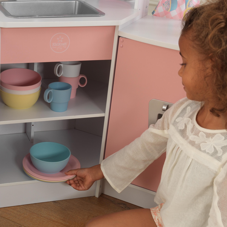 Делукс детска ъглова кухня от Kidkraft – дървена играчка