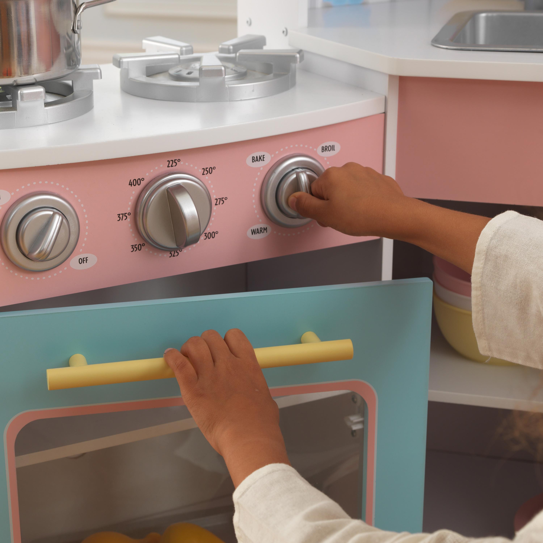 Делукс детска ъглова кухня от Kidkraft - дървена играчка - Bellamie