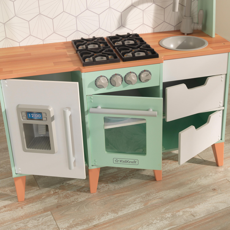 Kidkraft – Детска модерна кухня от средата на века – дървени играчки