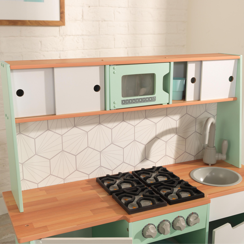 Kidkraft - Детска модерна кухня от средата на века - дървени играчкиKidkraft - Детска модерна кухня от средата на века - дървени играчки - Bellamie