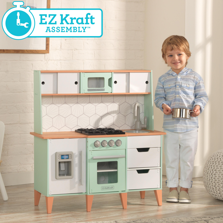 Kidkraft - Детска модерна кухня от средата на века - дървени играчки - Bellamie