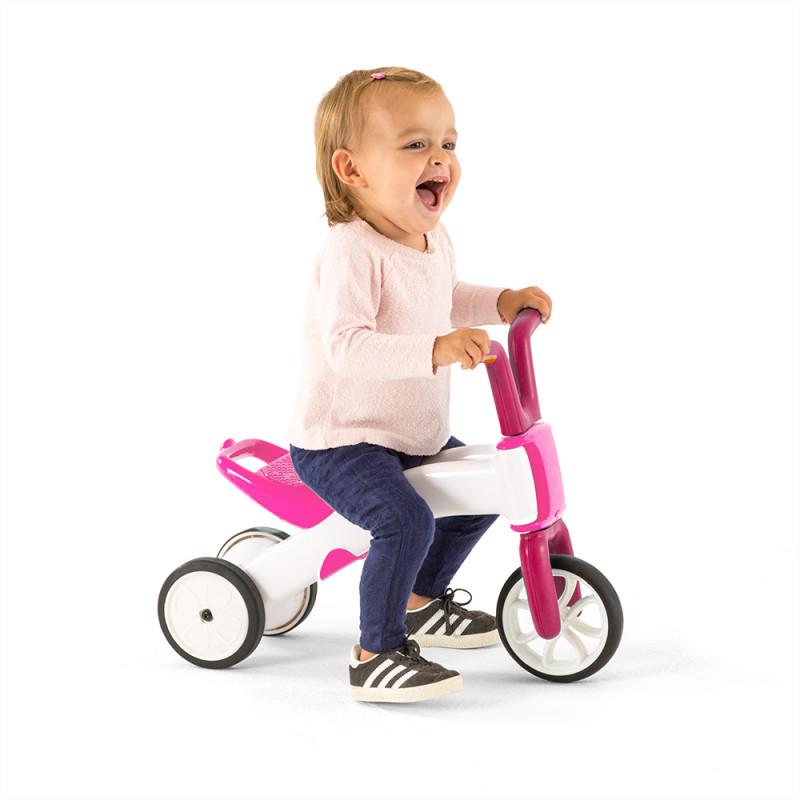 Bunzi детско баланс колело в розово от Chillafish-bellamiestore