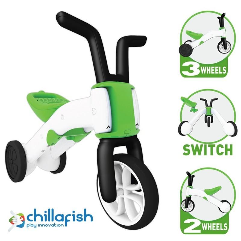Bunzi детско колело за баланс в зелено от Chillafish(5)-bellamiestore