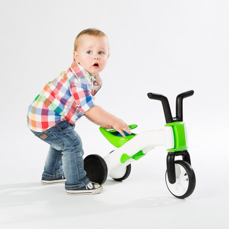 Bunzi детско колело за баланс в зелено от Chillafish(3)-bellamiestore
