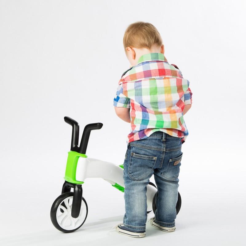 Bunzi детско колело за баланс в зелено от Chillafish(2)-bellamiestore
