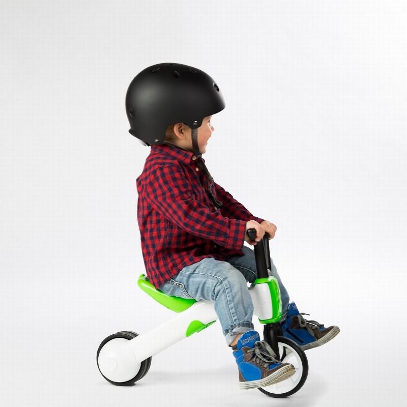 Bunzi детско колело за баланс в зелено от Chillafish(1)-bellamiestore