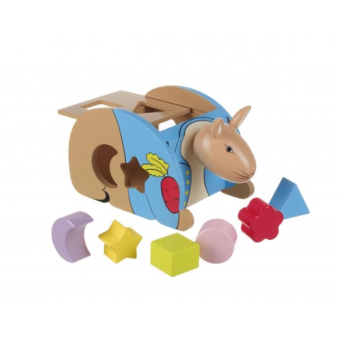 Дървен сортер - Зайчето Питър от Orange Tree Toys - дървена играчка - Bellamiestore