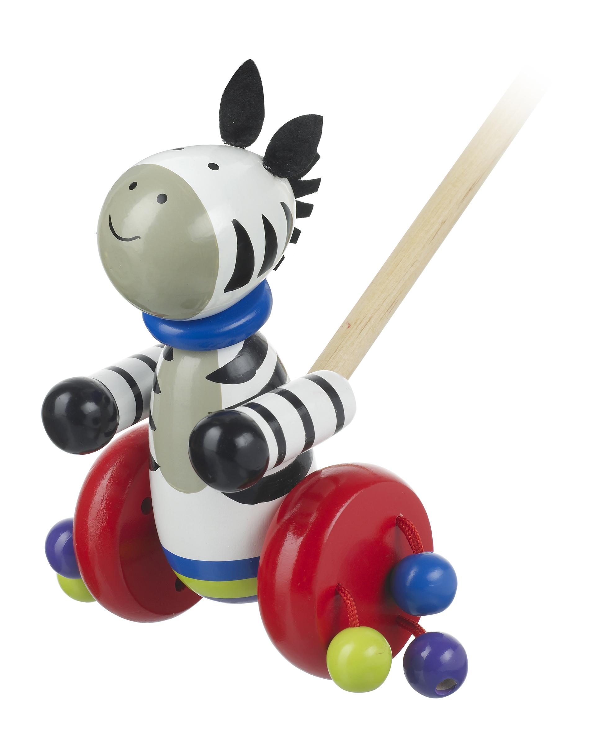 Дървена буталка - Зебра - бебешка играчка - Bellamie