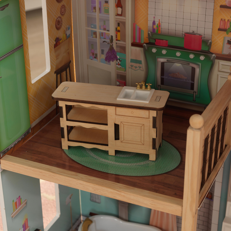 Дървена куклена къща Карлота от KidKraft - дървена играчка - Bellamie