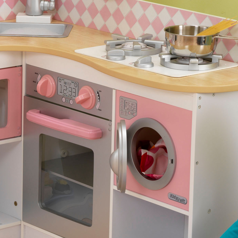 """Детска дървена ъглова кухня """"Гурме"""" от Kidkraft - Дървена играчка - Bellamie"""