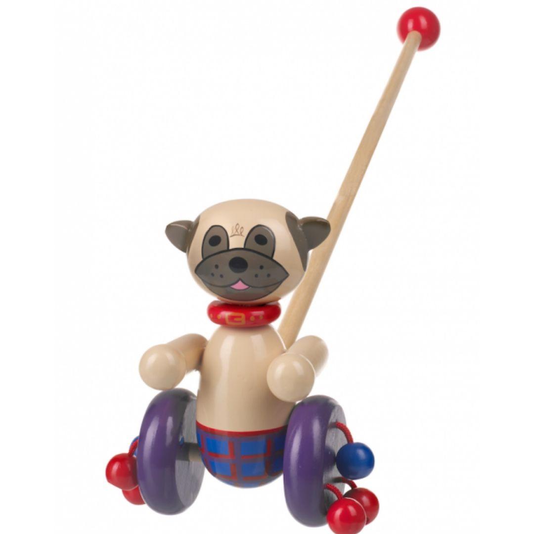 Детска дървена буталка – Мопс – Orange tree toys детски играчки(3)