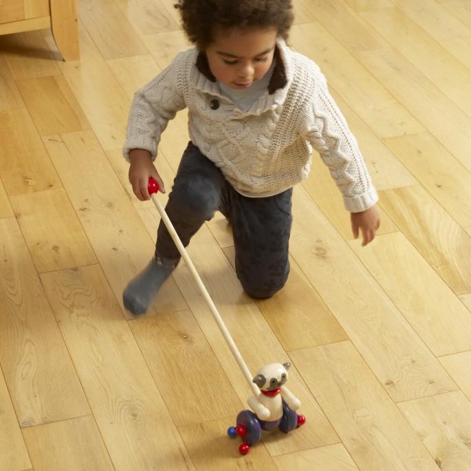 Детска дървена буталка - Мопс - Orange tree toys детски играчки(2)-bellamiestore