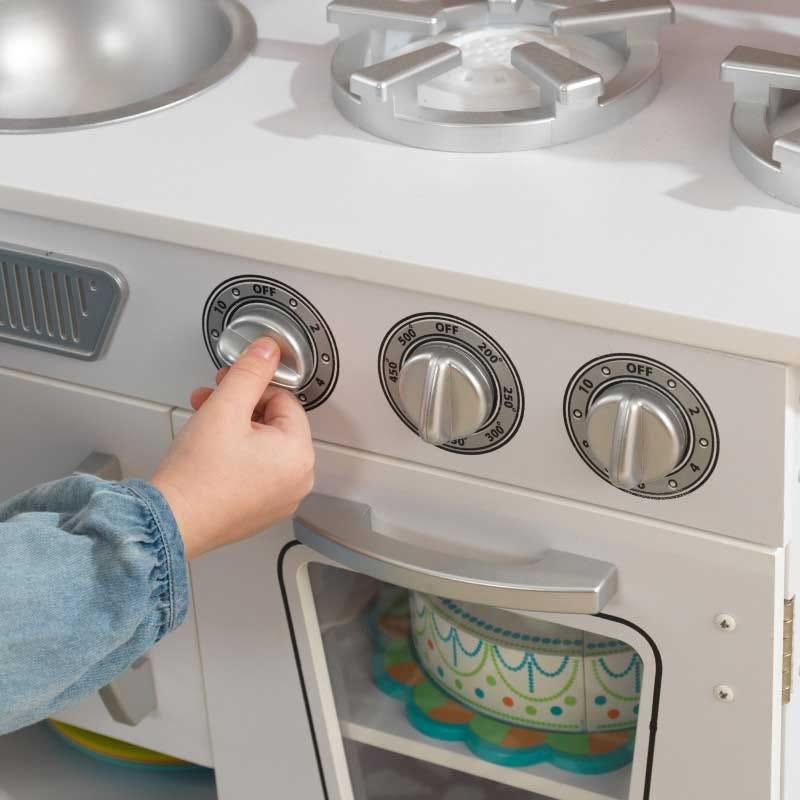 Детска дървена кухня винтидж в бяло- детска играчка от KidKraft(5)-bellamiestore