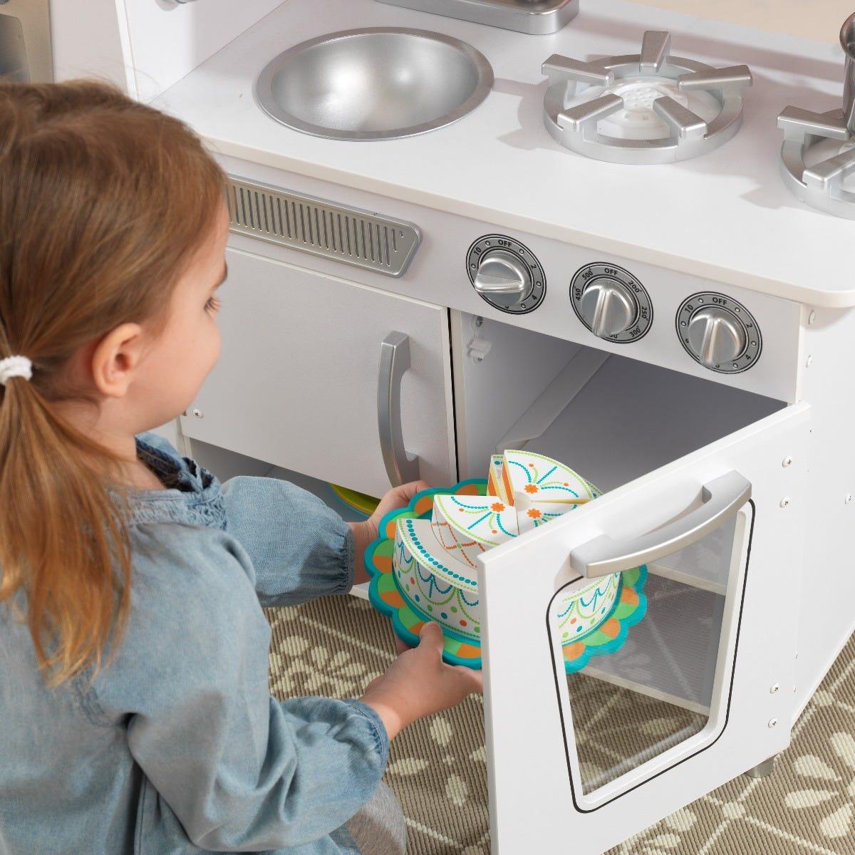 Детска дървена кухня винтидж в бяло- детска играчка от KidKraft(2)-bellamiestore