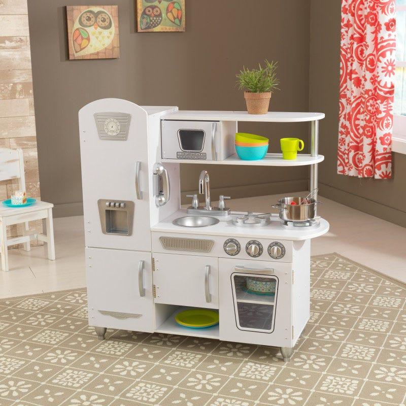 Детска дървена кухня винтидж в бяло- детска играчка от KidKraft(8)-bellamiestore