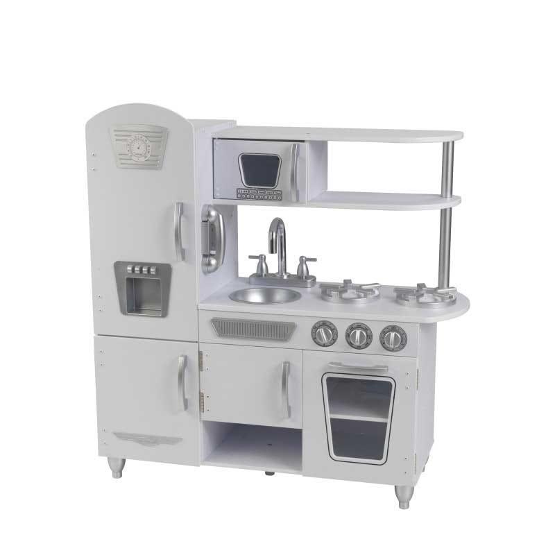 Детска дървена кухня винтидж в бяло- детска играчка от KidKraft-bellamiestore