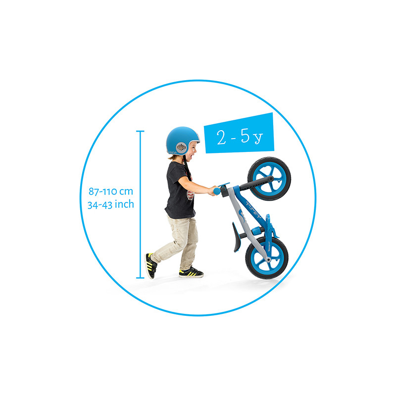 Детско колело за балансиране Chillafish bmxie2 модел в синьо-bellamiestore