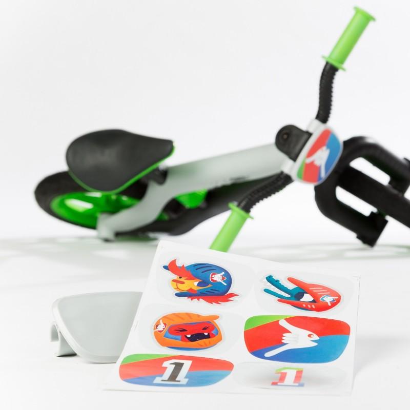 Детско колело за балансиране в зелено серия BMXie от Chillafish-bellamiestore