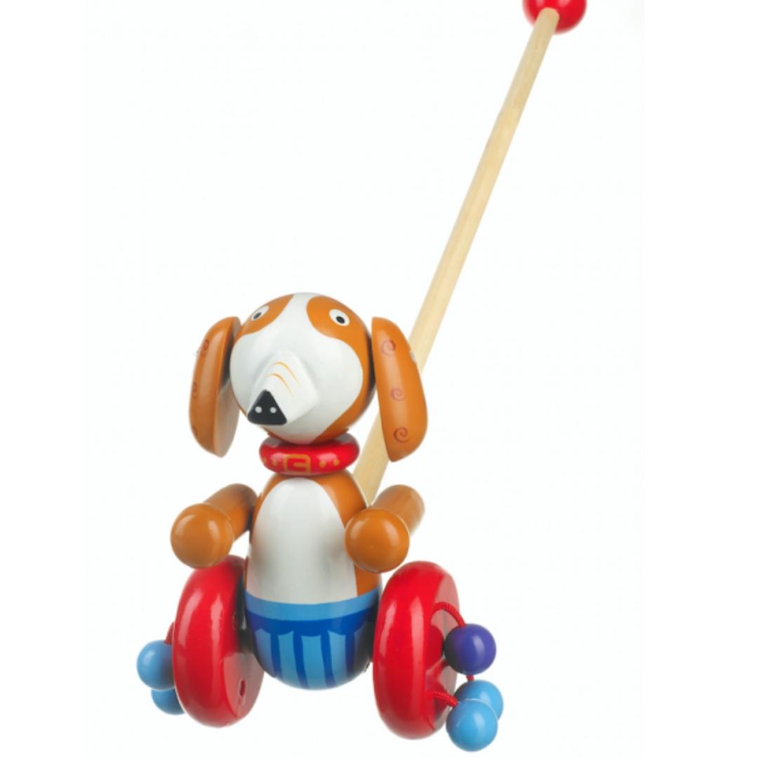 Дървена играчка за бутане Кученце от Orange tree toys (4)