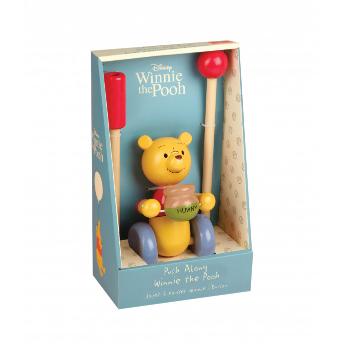 Дървена играчка за бутане Мечо Пух от Orange tree toys-bellamiestore